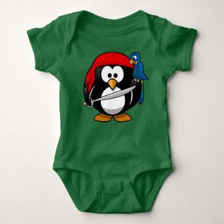 Pequeño equipo del bebé del pingüino del pirata body para bebé