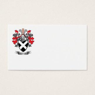 Pequeño escudo de armas del escudo de la familia tarjeta de negocios