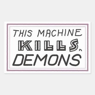"Pequeño ""esta máquina mata pegatina de los"