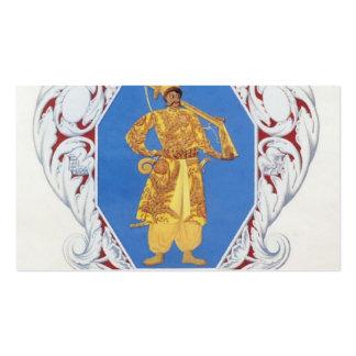 Pequeño estado del ucraniano del escudo de armas d plantillas de tarjetas de visita