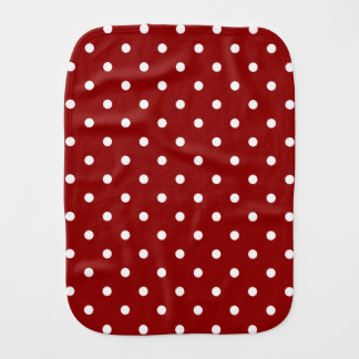 Pequeño fondo blanco de centro blanco del rojo de paños para bebé