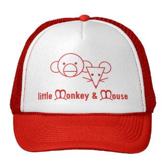 Pequeño gorra del mono y del ratón