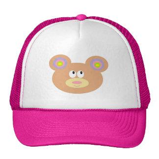 Pequeño gorra lindo del camionero del oso de peluc