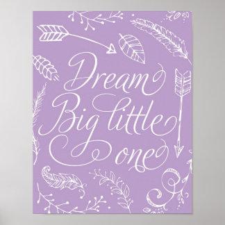 Pequeño grande el ideal en púrpura póster
