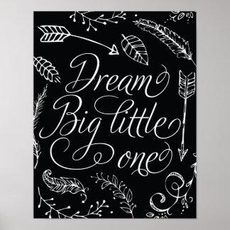 Pequeño grande el ideal negro y blanco póster