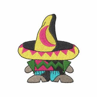 Pequeño hombre con el sombrero camiseta polo bordada