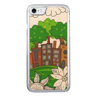 Pequeño ilustracion de la ciudad funda para iPhone 8/7 de carved