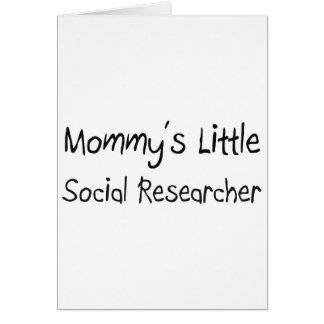Pequeño investigador social de Mommys Tarjeta De Felicitación
