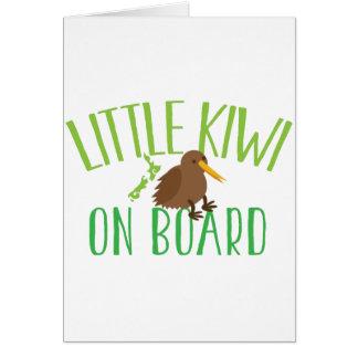 Pequeño kiwi a bordo (maternidad linda de Nueva Tarjeta De Felicitación
