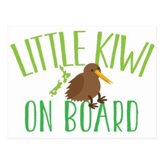 Pequeño kiwi a bordo (maternidad linda de Nueva Tarjeta Postal