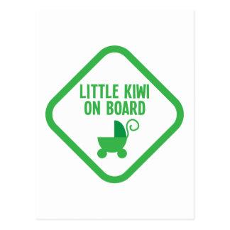 Pequeño KIWI a bordo Nueva Zelanda Postal