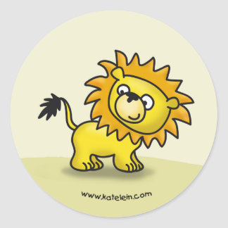 Pequeño león lindo pegatina