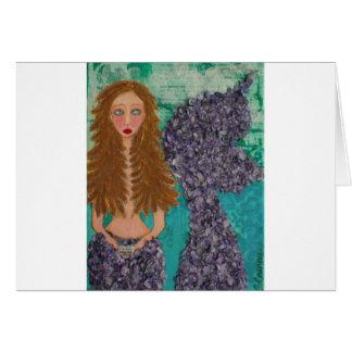 pequeño mermaid.jpg triste tarjeta de felicitación