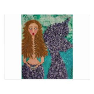 pequeño mermaid.jpg triste postal