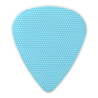 Pequeño modelo de lunar azul y blanco púa de guitarra acetal