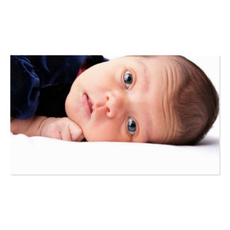 Pequeño niño recién nacido lindo tarjetas de visita