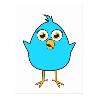 Pequeño pájaro azul postal