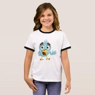 Pequeño pájaro lindo camiseta ringer
