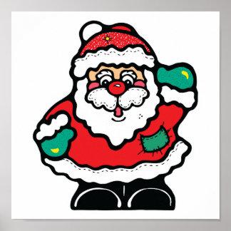 pequeño Papá Noel alegre Impresiones