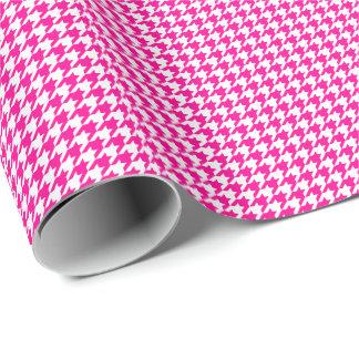 Pequeño papel de embalaje rosado y blanco de
