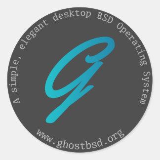Pequeño pegatina redondo de GhostBSD