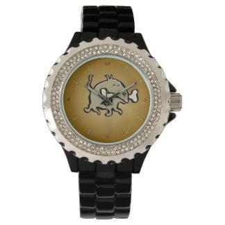 pequeño perro, hueso grande relojes de pulsera