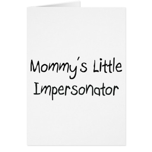 Pequeño personificador de Mommys Felicitacion