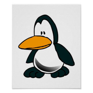pequeño pingüino triste tonto impresiones