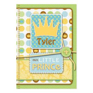 Pequeño príncipe Reminder Notecard Tarjetas De Visita Grandes