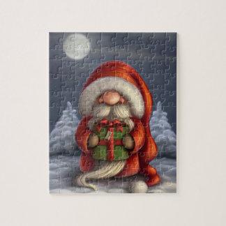 Pequeño Santa con un regalo Puzzle