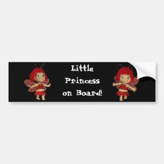 Pequeño ssticker del parachoque de la princesa a b pegatina para coche