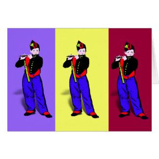 Pequeño trío del flautista de Manet Tarjeta Pequeña