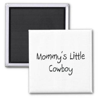 Pequeño vaquero de Mommys Imán Para Frigorífico