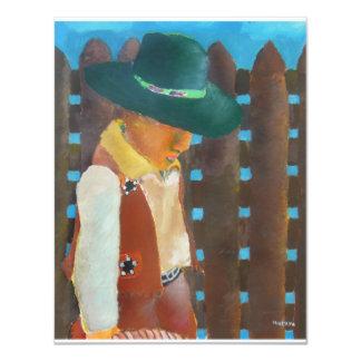 pequeño vaquero invitación 10,8 x 13,9 cm
