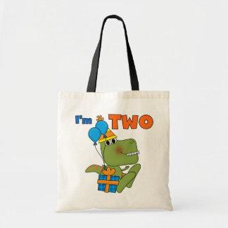 Pequeños 2das camisetas y regalos del cumpleaños d bolsas de mano