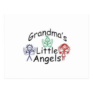Pequeños ángeles de las abuelas postal
