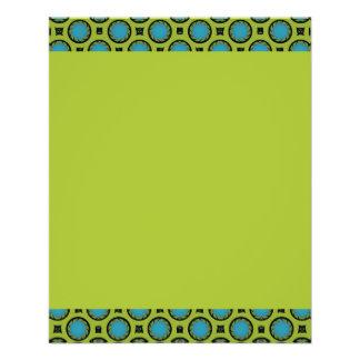 pequeños círculos del verde de la turquesa folleto 11,4 x 14,2 cm