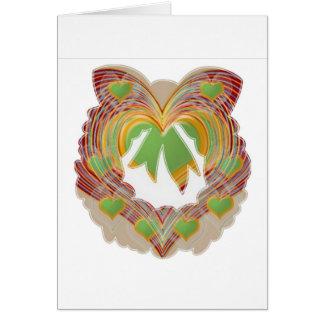 Pequeños corazones del verde esmeralda: Guirnalda Tarjeta De Felicitación