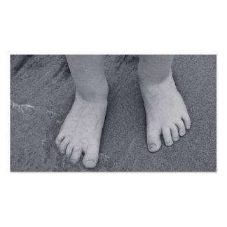 Pequeños dedos del pie tarjeta personal