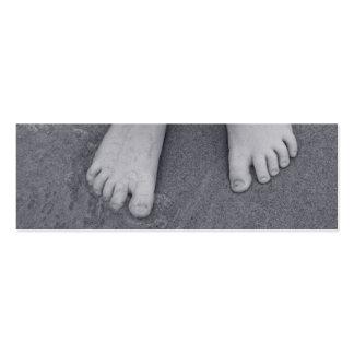 Pequeños dedos del pie tarjeta de visita