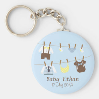 Pequeños favores de fiesta de ducha del bebé del llavero redondo tipo chapa