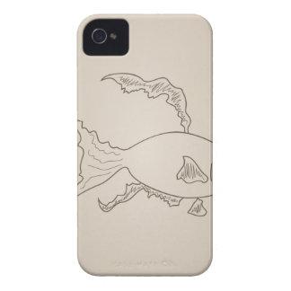 Pequeños pescados del oro funda para iPhone 4