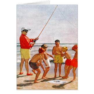 Pequeños pescados grandes de poste de Richard Tarjeta Pequeña