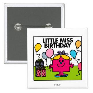 Pequeños presentes y globos de Srta. Birthday el | Chapa Cuadrada