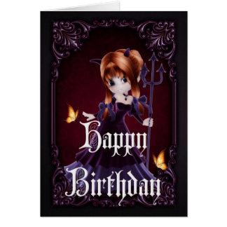 Pequeños tarjeta gótica del feliz cumpleaños del