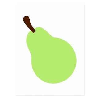 Pera verde postal