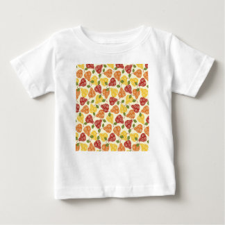 Peras lindas hermosas en colores del otoño camiseta de bebé