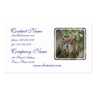Perca del búho tarjetas de negocios
