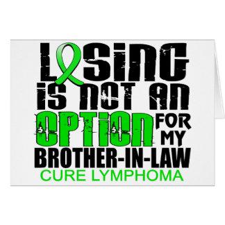 Perder no al cuñado del linfoma de la opción felicitacion