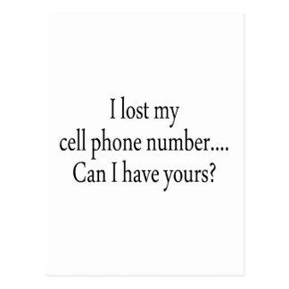 Perdí mi número del teléfono celular puedo yo postal